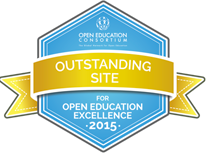 Open Education Excellence 2015 - Outstanding Site badge